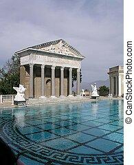 Greco-Roman pool in San Simeon State Park
