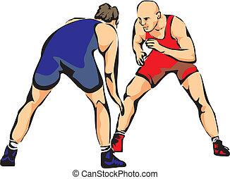 wrestling - greco-roman wrestling, freestyle wrestling,...