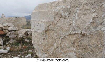 grecs, pierre, ancien, sagalassos, découpage