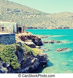greece)., μεσογειακός , (crete, ακτή