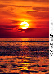 greece., כרתים, sunset.