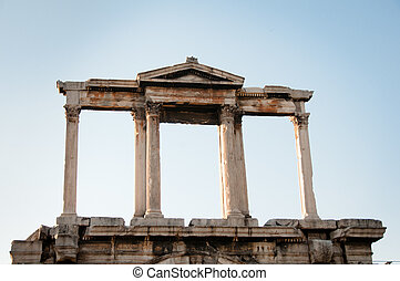 Greece, Athens. Arch of Hadrian.