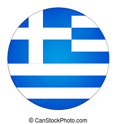 Greece button with flag