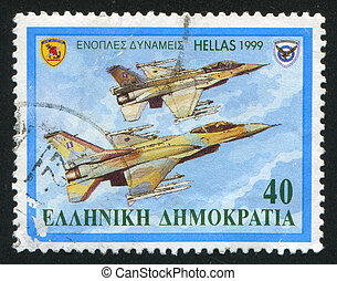 Aircrafts - Greece - CIRCA 1999: stamp printed by Greece, ...