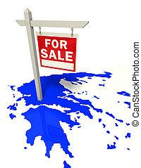 greece crisis conceptual image
