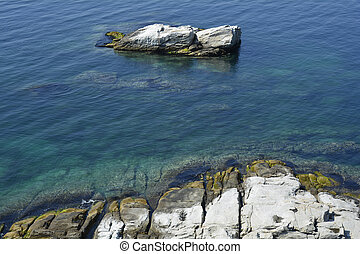 Greece, Eastmacedonia, Kavala - Greece, Kavala, rocky shore...