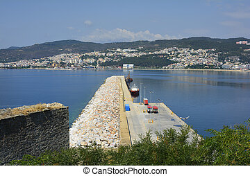 Greece, Eastmacedonia, Kavala - Greece, Kavala, ships on...