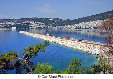 Greece, Eastmacedonia, Kavala - Greece, Kavala, cityscape...