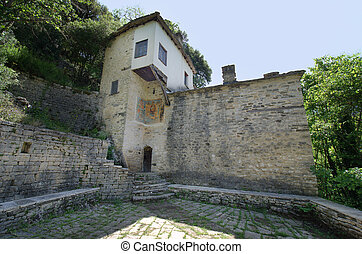 Greece, Epirus, Panagia Speleotissa Monastery in Vikos-Aoos National Park