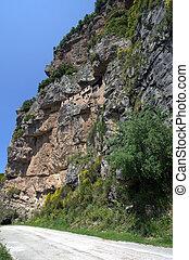 Greece, Epirus, Monastery Kipinas built in 13th Century into rock face