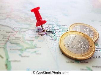 Greece Euro map