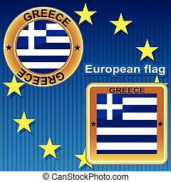 Greece european flag.