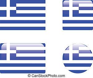 Greece flag & buttons