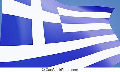 Greece flag close up