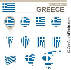 Greece Flag Collection