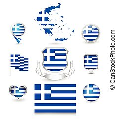 Greece Flag Collection
