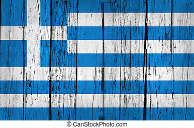 Greece Flag Grunge Background