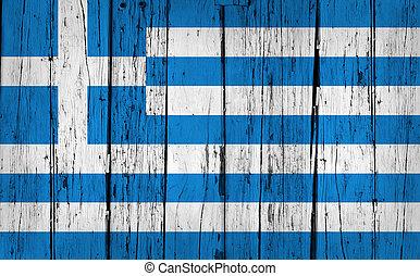 Greece Flag Grunge Background