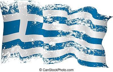 Greece flag grunge