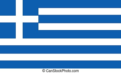Greece flag icon in flat style. National sign vector illustration. Politic business concept.