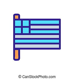 Greece flag icon vector. Isolated contour symbol illustration