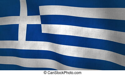 Greece Flag (Loop-able) - Greece Flag Background Textured...
