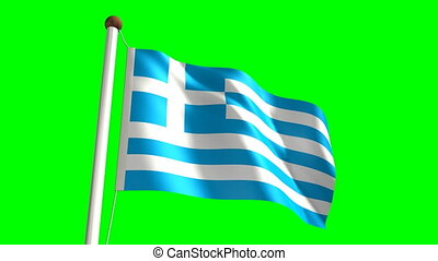 Greece flag (Loop & green screen)
