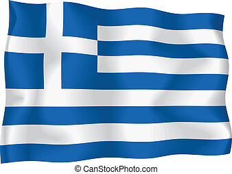 Greece flag on isolated background