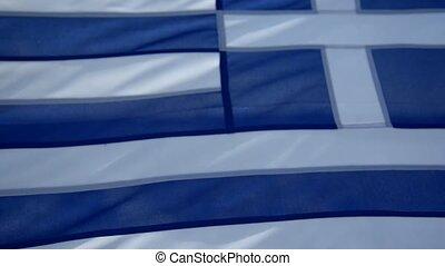 greece flag on the ship