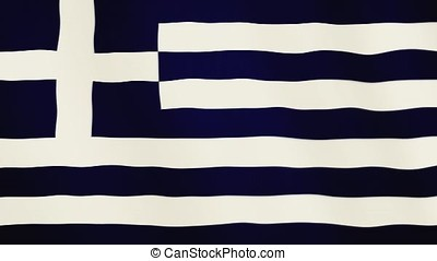 Greece flag waving animation. Full Screen. Symbol of the country.