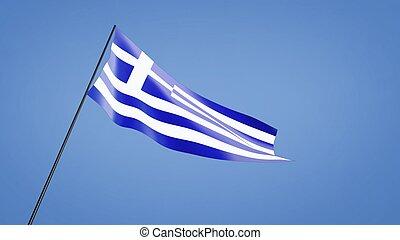 Greece flag wide