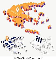 Map peloponnese greece 3dillustration Map of clip art