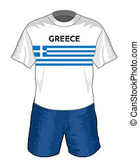 Greece football uniform