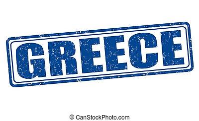 Greece grunge stamp