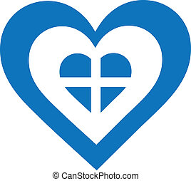 Greece Heart - A concentric, heart shaped design, with...