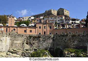 Greece, Kavala, Imaret and medieval fortress in Panagia...