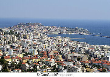Greece; Kavala - Greece, cityscape of Kavala,