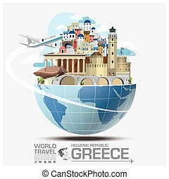 Greece Landmark Global Travel And Journey Infographic