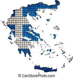 Greece map grunge mosaic