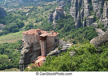 Greece. Meteora monastery in the high mountain