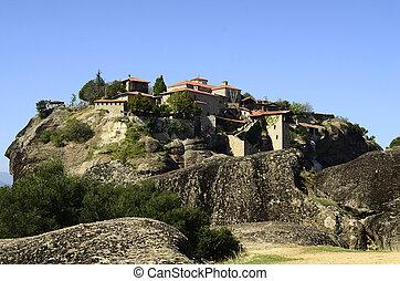 Greece, Meteora, Monastery of the Great Meteoron