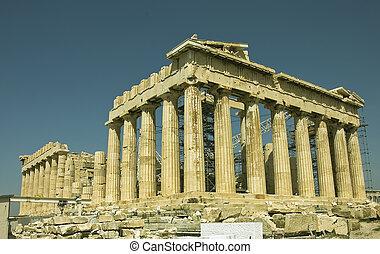 Greece monument - The famous Parthenon monument, north-west ...