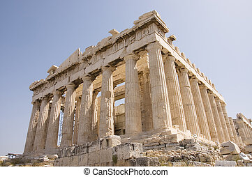 The famous Parthenon monument, north-west view, Athens, Greece