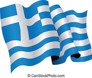 greece national flag - the greek national flag