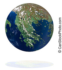 Greece on the Earth planet