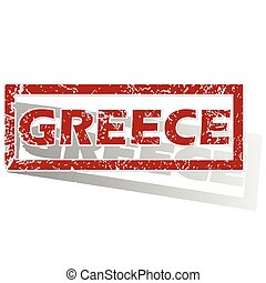 Greece outlined stamp