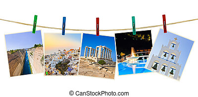 Greece photography on clothespins