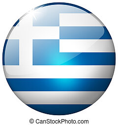 Greece Round Glass Button