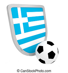 Greece shield soccer isolated