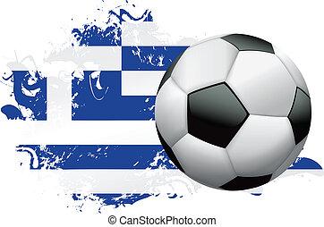 Greece Soccer Grunge Design